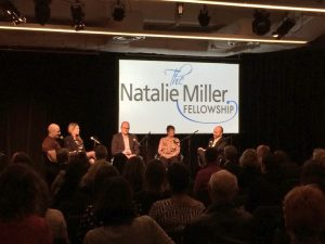 Harriet Pike speaking at NMF panel discussion with Marc Wooldridge, Anni Browning and Joel Pearlman