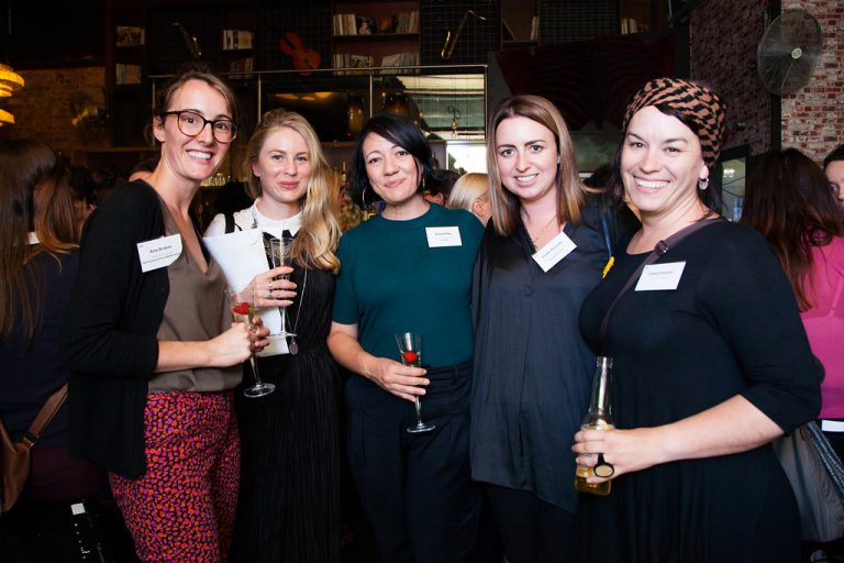 Amy Browne, Brooke Silcox, Virginia Kay, Tenille Kennedy, Emma Fletcher at NMF Brilliant Careers Leadership Conference 2017