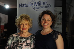 Sasha Close with Natalie Miller after being awarded the 2016 Fellowship at AIMC