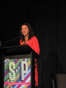 Rachel Okine accepts the 2012 Natalie Miller Fellowship