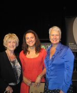 Natalie Miller, Rachel Okine and Tanya Chambers at inaugural Natalie Miller Fellowship announcement