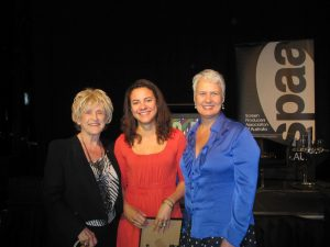 Natalie Miller, Rachel Okine and Tania Chambers at inaugural Natalie Miller Fellowship announcement
