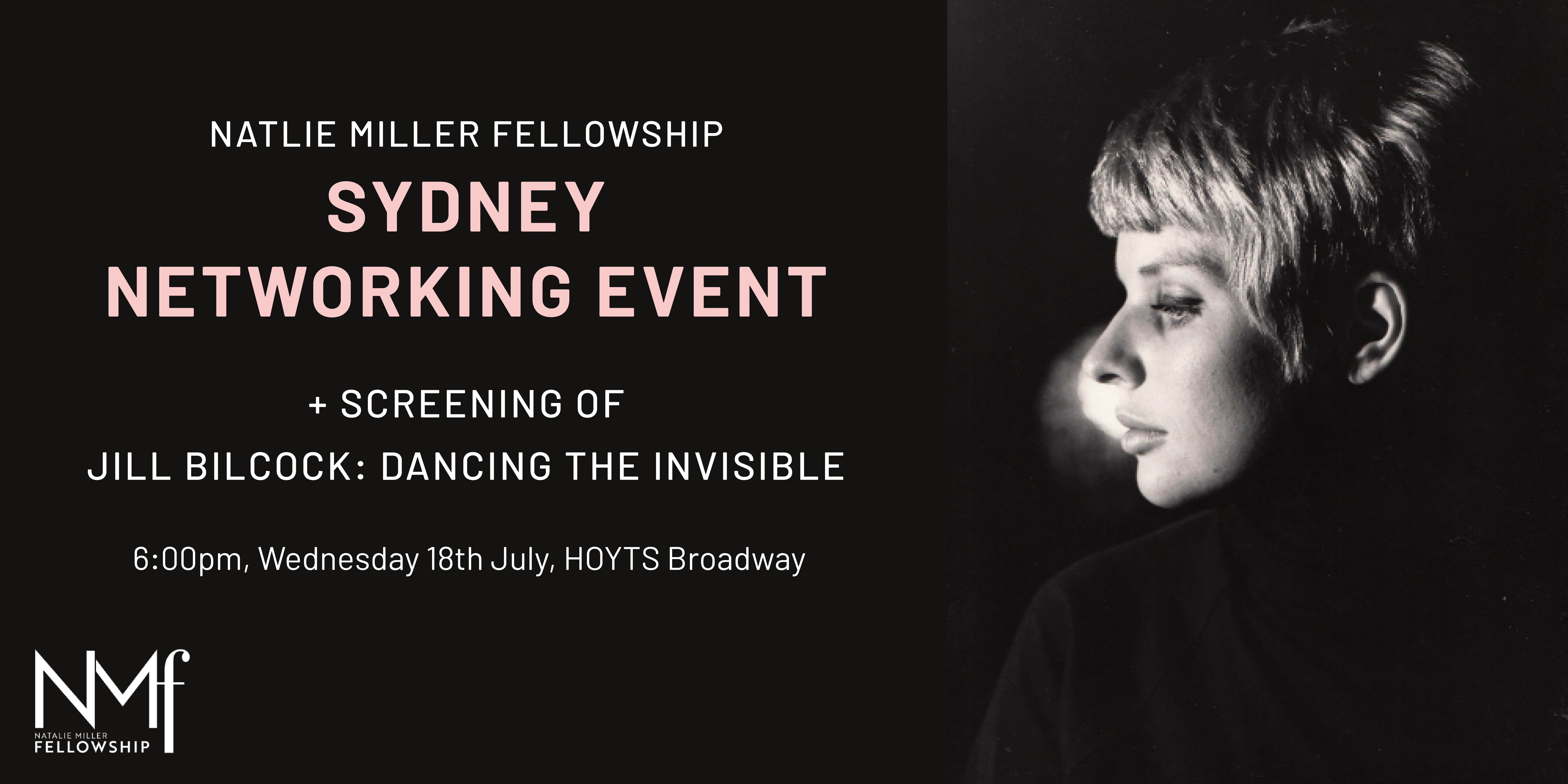 Invitation to NMF Sydney Networking Event + Screening of Jill Bilcock: Dancing The Invisible