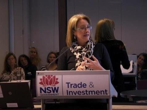 A picture of patience and lucidity - Sex Discrimination Commissioner Elizabeth Broderick in action at the NMF's Women, Influence, Leadership in the Film and Television Industry Q&A event in Sydney on July 10th.